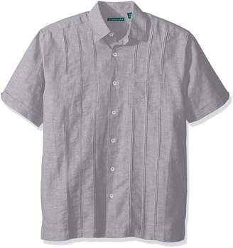 Cubavera Cuba Vera Men's Short Sleeve Two Pocket Tuck Woven Shirt