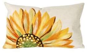 Visions III Sunflower Indoor and Outdoor Pillow