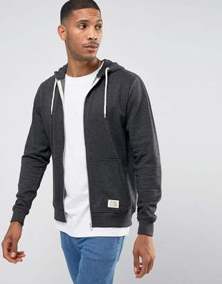 Blend of America zip thru hoodie core in charcoal