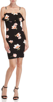 Almost Famous Black Floral Bodycon Dress