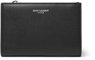 Saint Laurent Pebble-Grain Leather Billfold Wallet