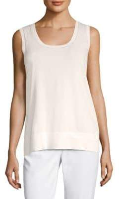 Lafayette 148 New York Sheer-Trim Tank Top