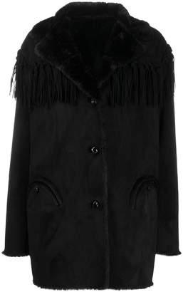 BLAZÉ MILANO fringed trim single-breasted coat
