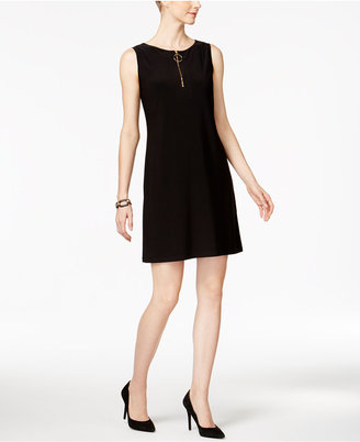 MSK Sleeveless Zip-Front Shift Dress $69 thestylecure.com