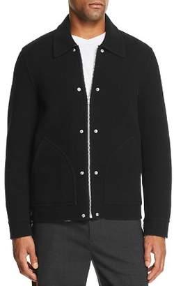 Helmut Lang Logo-Back Double-Face Felt Jacket