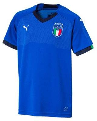 Puma Italy 2017 Kids Home National Football Jersey Shirt Blue 13-14 years