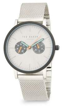 Ted Baker Crystal-Faced Stainless Steel Analog Watch
