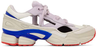 Raf Simons White and Purple adidas Originals Edition RS Replicant Ozweego Sneakers