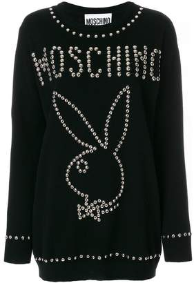 Moschino Playboy studded sweater