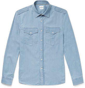 Brunello Cucinelli Cotton-Chambray Shirt
