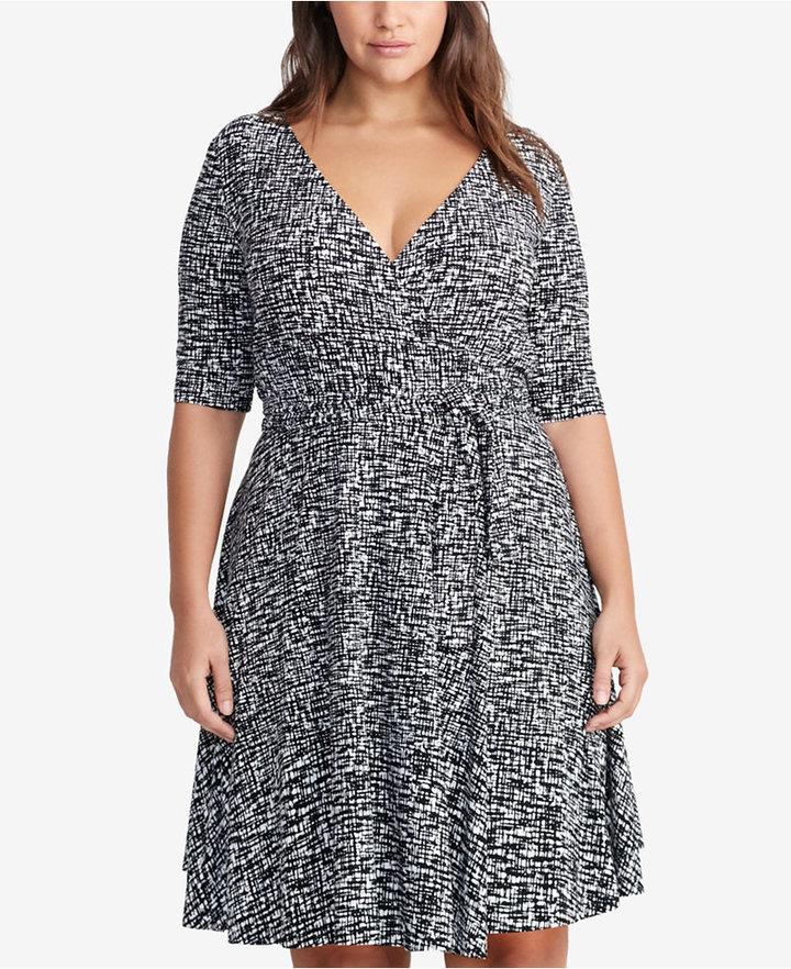 Lauren Ralph LaurenLauren Ralph Lauren Plus Size Printed Surplice Dress