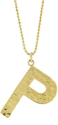 Jennifer Meyer Hammered Initial Necklace - Yellow Gold