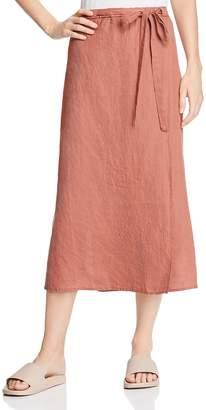 Eileen Fisher Petites Tie-Belt Linen Midi Skirt