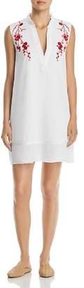 Velvet Heart Terra Embroidered Split-Neck Shift Dress