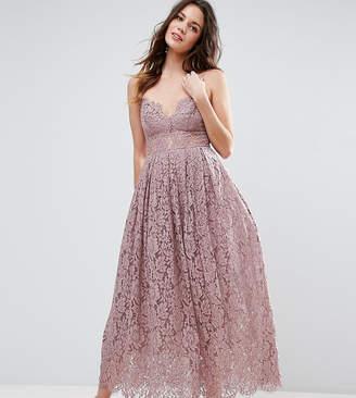 Asos Tall TALL Lace Cami Midi Prom Dress