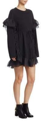 See by Chloe Chiffon Ruffle T-Shirt Dress
