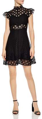 Sandro Jannie Lace A-Line Mini Dress