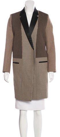 CelineCéline Houndstooth Wool Coat