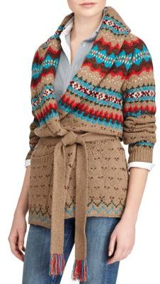 Polo Ralph Lauren Shawl Cardigan $498 thestylecure.com