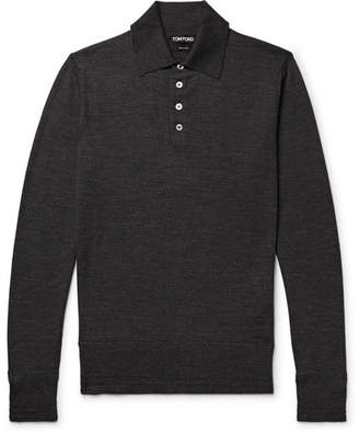 Tom Ford Slim-Fit Knitted Wool Polo Shirt