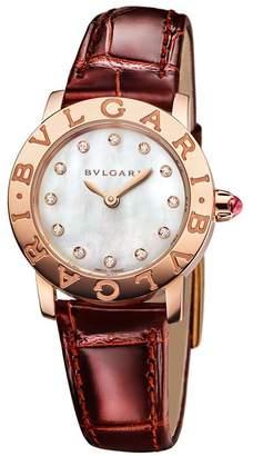Bvlgari Rose Gold, Mother-of-Pearl and Diamond Bulgari Bulgari Lady Watch 26mm