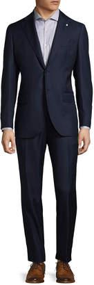 Lubiam Notch Lapel Virgin Wool Suit