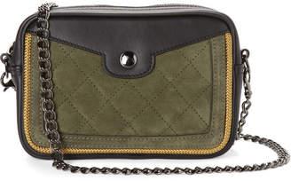 Longchamp Khaki   Black Mademoiselle Sellerie Convertible Crossbody 2d7a98f95b54a