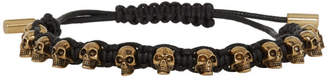 Alexander McQueen Black Skull Friendship Bracelet