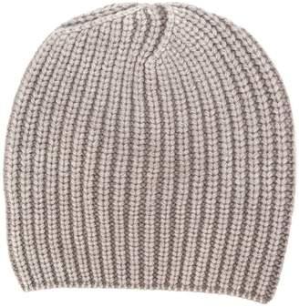 Iris von Arnim ribbed knit beanie hat