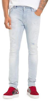 Tommy Hilfiger X Lewis Hamilton Distressed Skinny Jeans