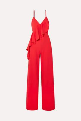 Alice + Olivia Alice Olivia - Keeva Ruffled Crepe Jumpsuit - Red