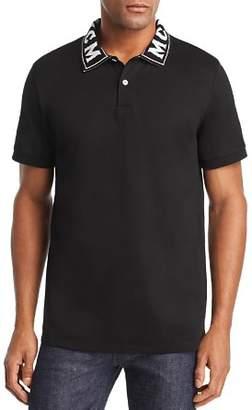 MCM Logo-Collar Piqué Polo Shirt