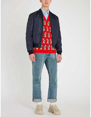 Gucci Reversible padded shell bomber jacket