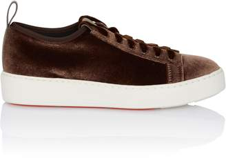Santoni Stretch Laceup Sneaker in Brown