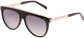Balmain Flat-Top Aviator Sunglasses