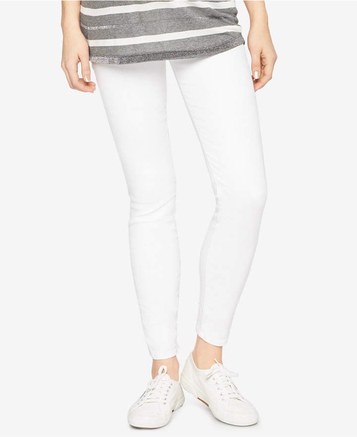 7 For All Mankind7 For All Mankind Maternity White Wash Skinny Jeans