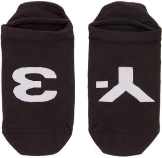 Y-3 Black Invisible Logo Socks