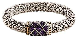John Hardy Amethyst Naga Lava Bracelet