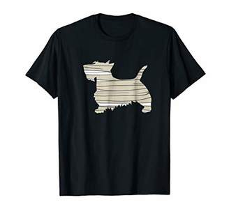 Scottie Scottish Terrier Mummy Funny Halloween Dog T-Shirt