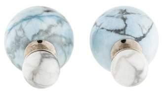 Christian Dior Howlite Mise en Tribale Earring