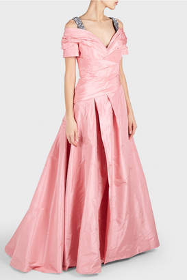Carolina Herrera Sequin Embellished Straps Gown
