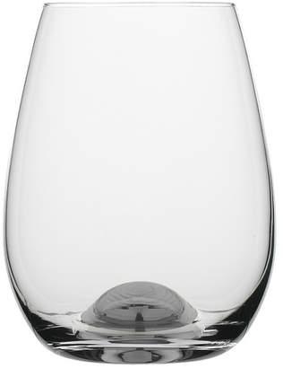 Set of 4 Selene Platinum Dimple Stemless Wine Glasses