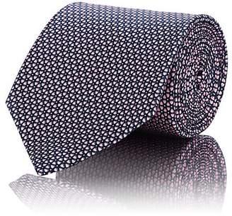 Ermenegildo Zegna Men's Geometric-Floral Silk Satin Necktie