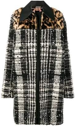 No.21 oversized tweed coat