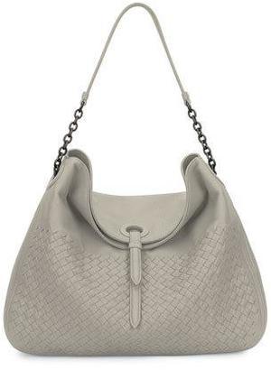 Bottega Veneta Intrecciato Cervo Flap-Top Hobo Bag $3,100 thestylecure.com
