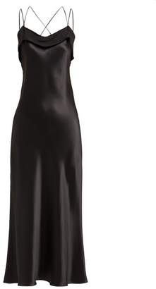 Maison Margiela Silk Satin Slip Dress - Womens - Black