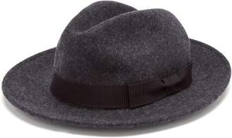 Etro Ribbon Trimmed Wool Fedora - Mens - Multi