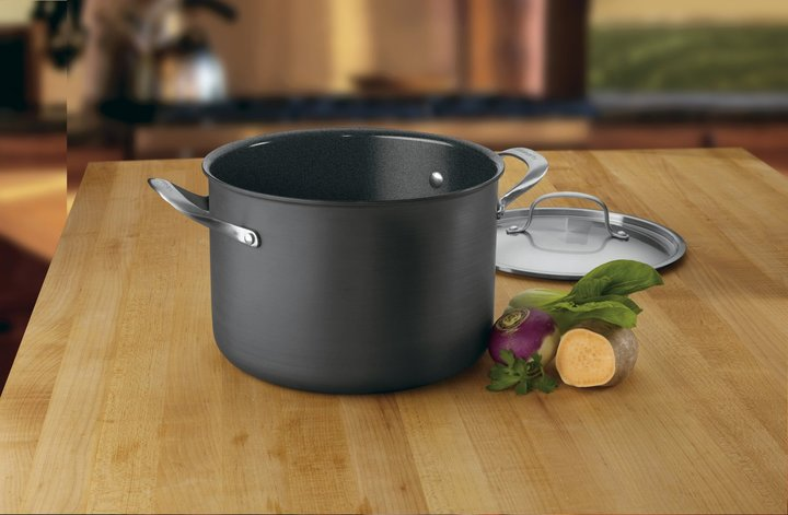 Cuisinart GreenGourmet Hard Anodized Nonstick 8 Quart Stock Pot w/ Cover