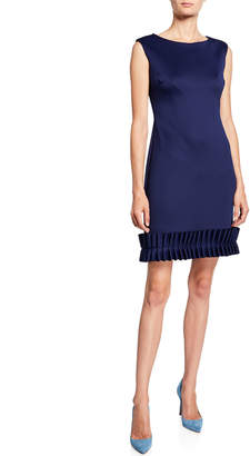 7a9a733d4c Donna Ricco Ruffle Pleated Sleeveless Sheath Dress