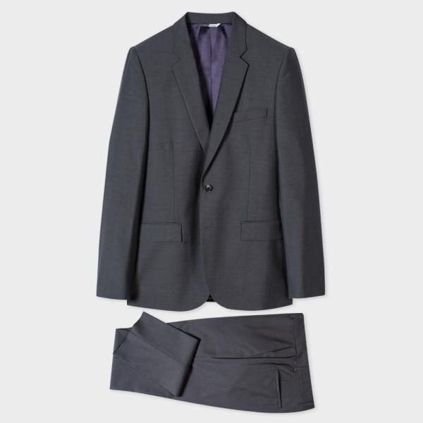 Paul SmithMen's Mid-Fit Grey Wool And Mohair-Blend Suit